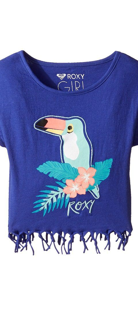 Roxy Kids Whispers Under the Rain Tee (Toddler/Little Kids/Big Kids) (Royal Blue) Girl's T Shirt - Roxy Kids, Whispers Under the Rain Tee (Toddler/Little Kids/Big Kids), ERLZT03080-PQF0, Apparel Top Shirt, T Shirt, Top, Apparel, Clothes Clothing, Gift, - Street Fashion And Style Ideas
