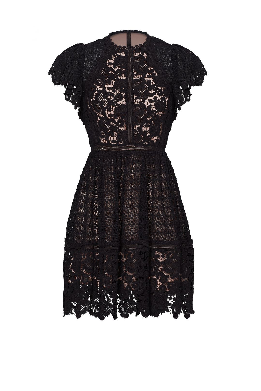 7535e7e6 Rebecca Taylor Black Lace Mix Dress | Style File | Dresses, Lace ...