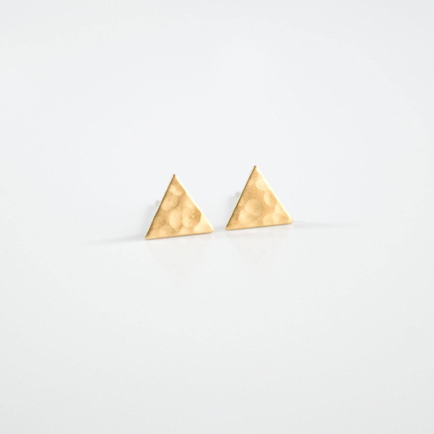 Triangle Earrings Stud Hypoallergenic Studs Gold