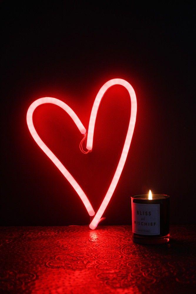 Led Neon Light Heart Red Neon Lighting Neon Wallpaper Neon