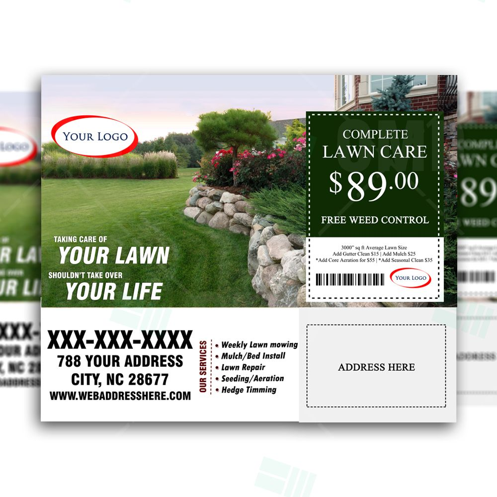 Lawn care marketing postcard 3 lawn care marketing