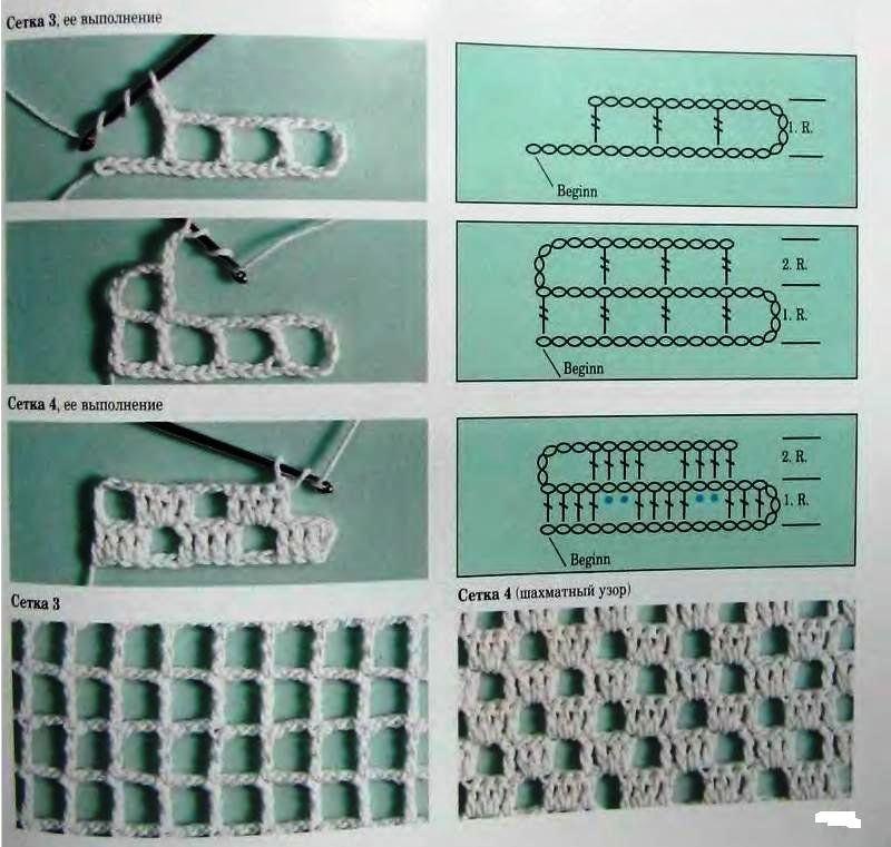 филейное вязание схемы крючком для начинающих бесплатно с фото