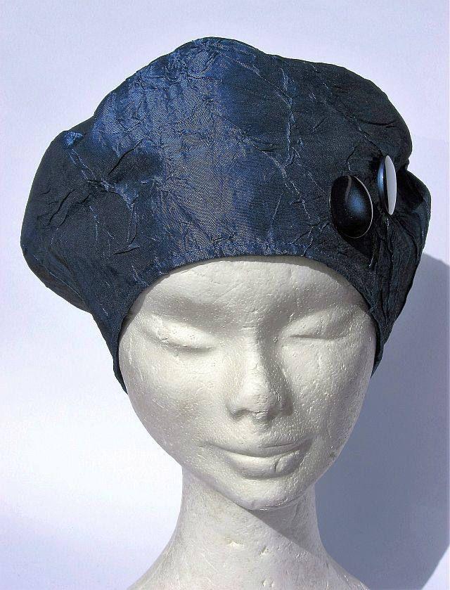 berretto basco taffetà blu scuro  f23b0183d5a5