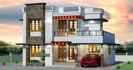 25 Lakhs Cost Estimated Kerala Home Kerala House Design Duplex House Design Modern House Plans