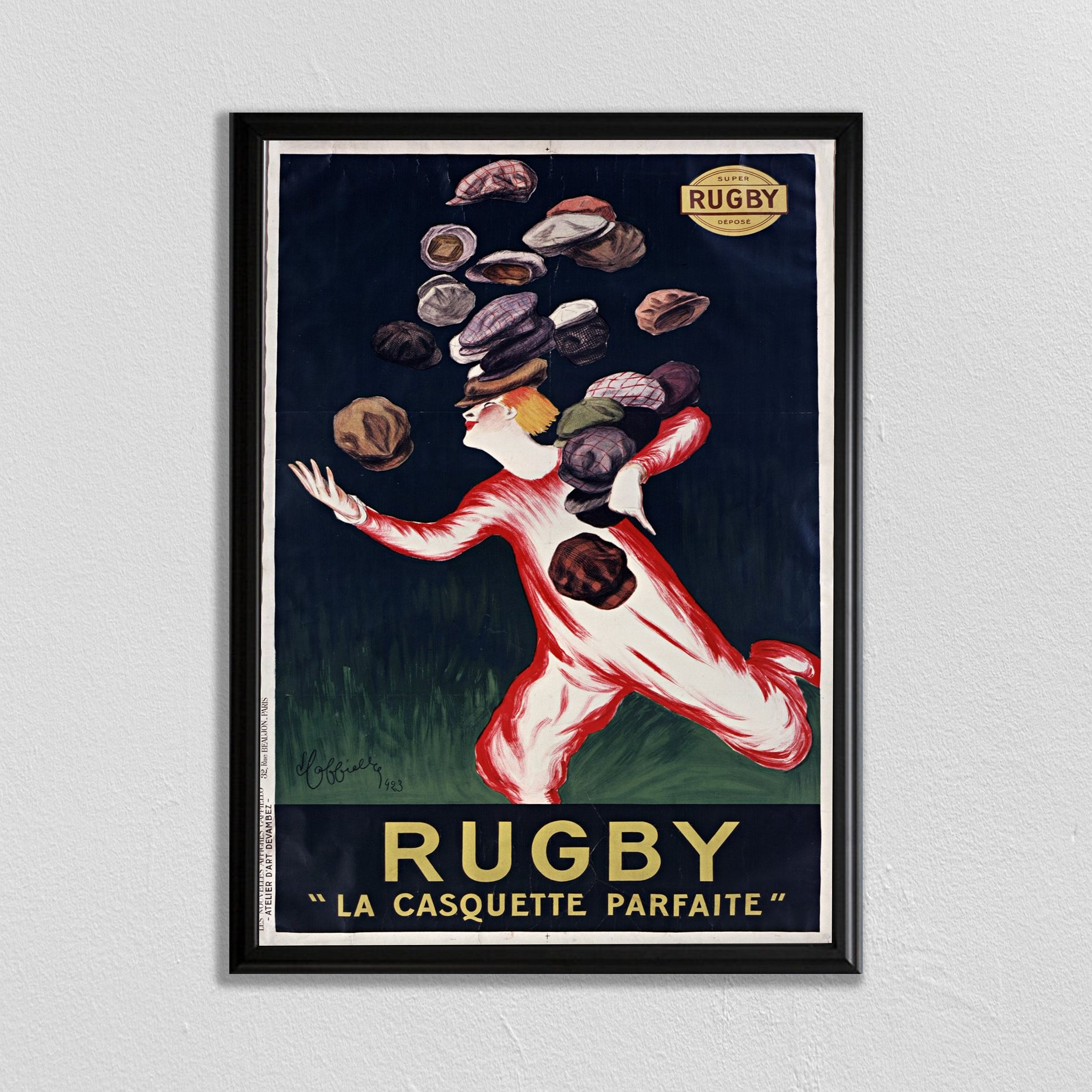 24x36 Rugby Cappiello Vintage Advert Art Poster Print
