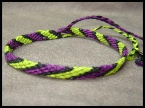 ► Friendship Bracelet Tutorial 1 - Beginner - The Candystripe (Chevron Base)
