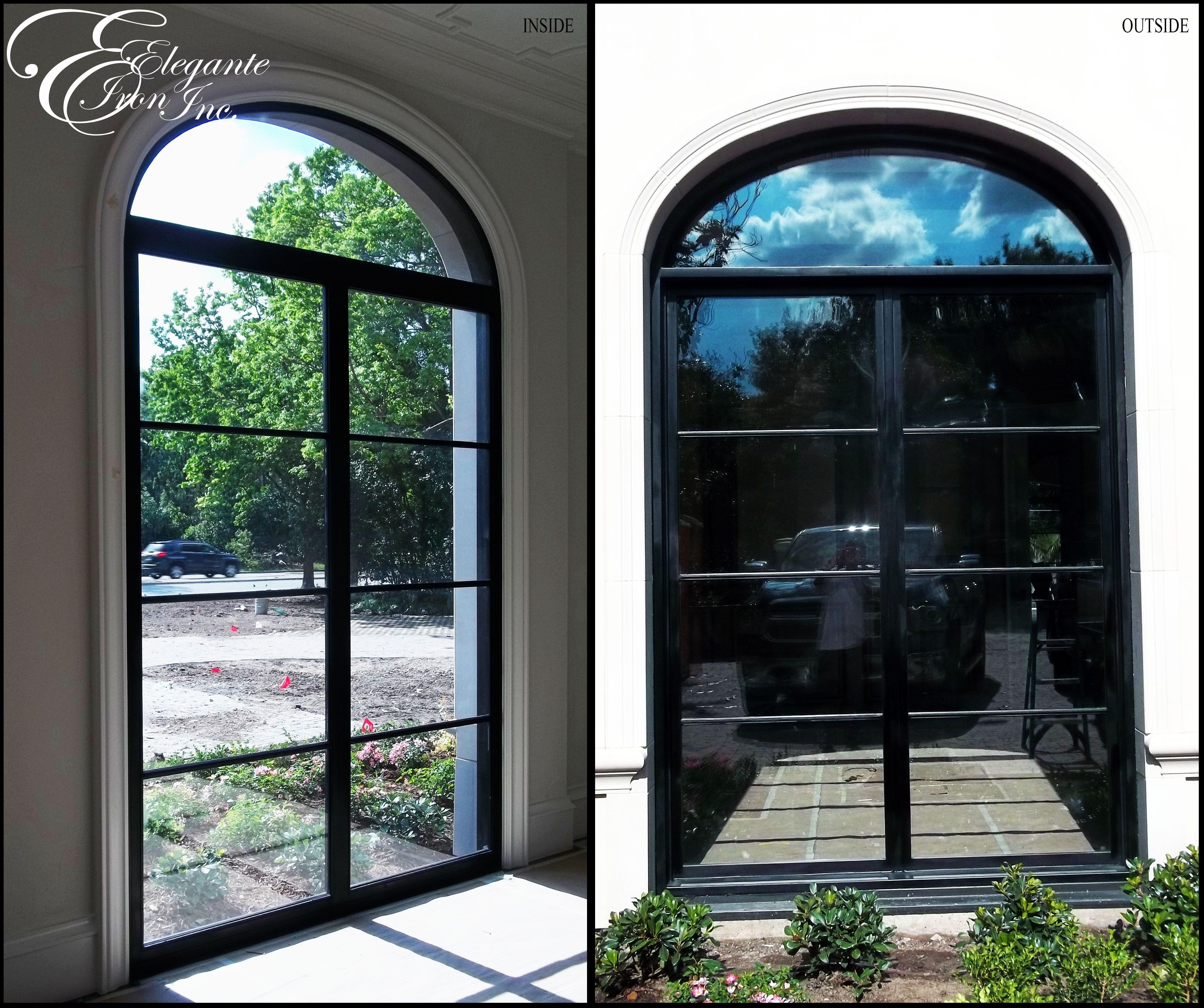 Custom wrought iron fixed windows windows window