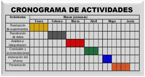 Cronograma De Actividades De Un Proyecto Buscar Con Google Actividades Cronograma Experimentos