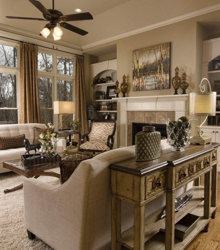 Toll Wohnzimmer Konsole Hinter Sofa