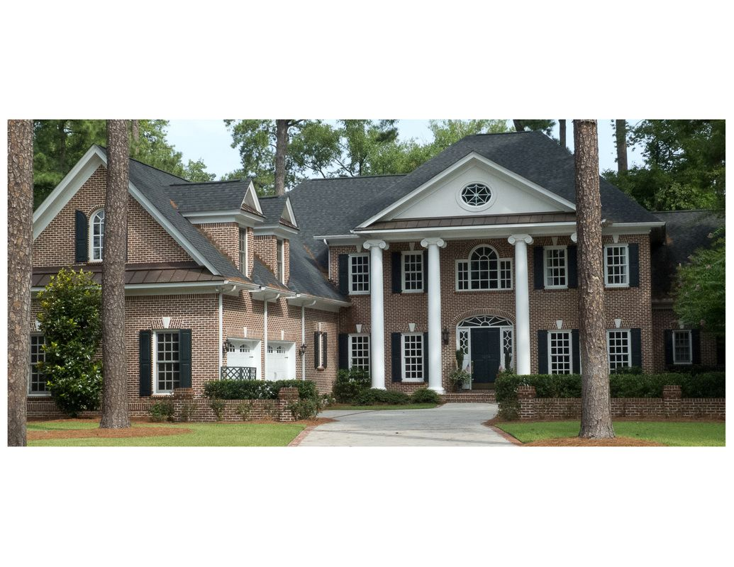 Traditional two story brick home custom house designs by for Columbia sc custom home builders