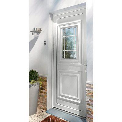 Porte D Entree Pvc Geom Conveks Blanc 90 X H 215 Cm Poussant Gauche En 2020 Porte Entree Pvc Castorama Et Pvc