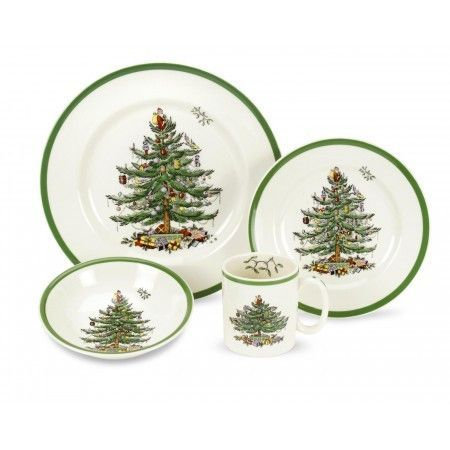 Christmas Tree 4-pc Placesetting Products Pinterest Products