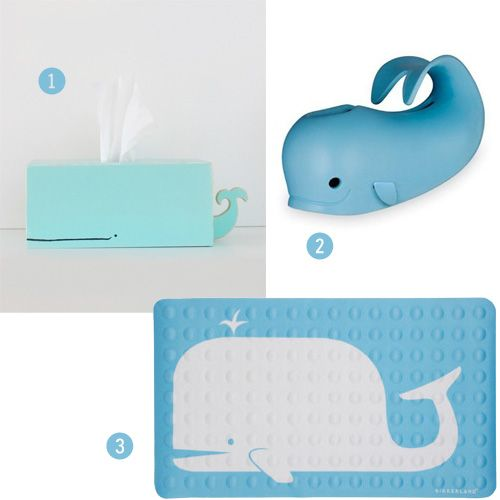 whale bath mat, and kleenex box. - Awesome Whale Tissue Box Holder Kid-Friendly Decor, DIY