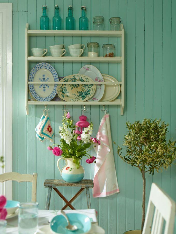 ideen f r w nde in t rkis und workshops kunst handwerk unter farbige. Black Bedroom Furniture Sets. Home Design Ideas