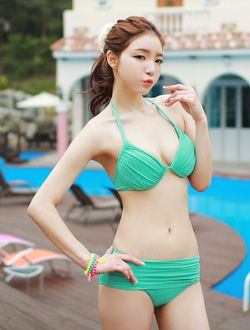 Good Asian swimsuit lesbian think