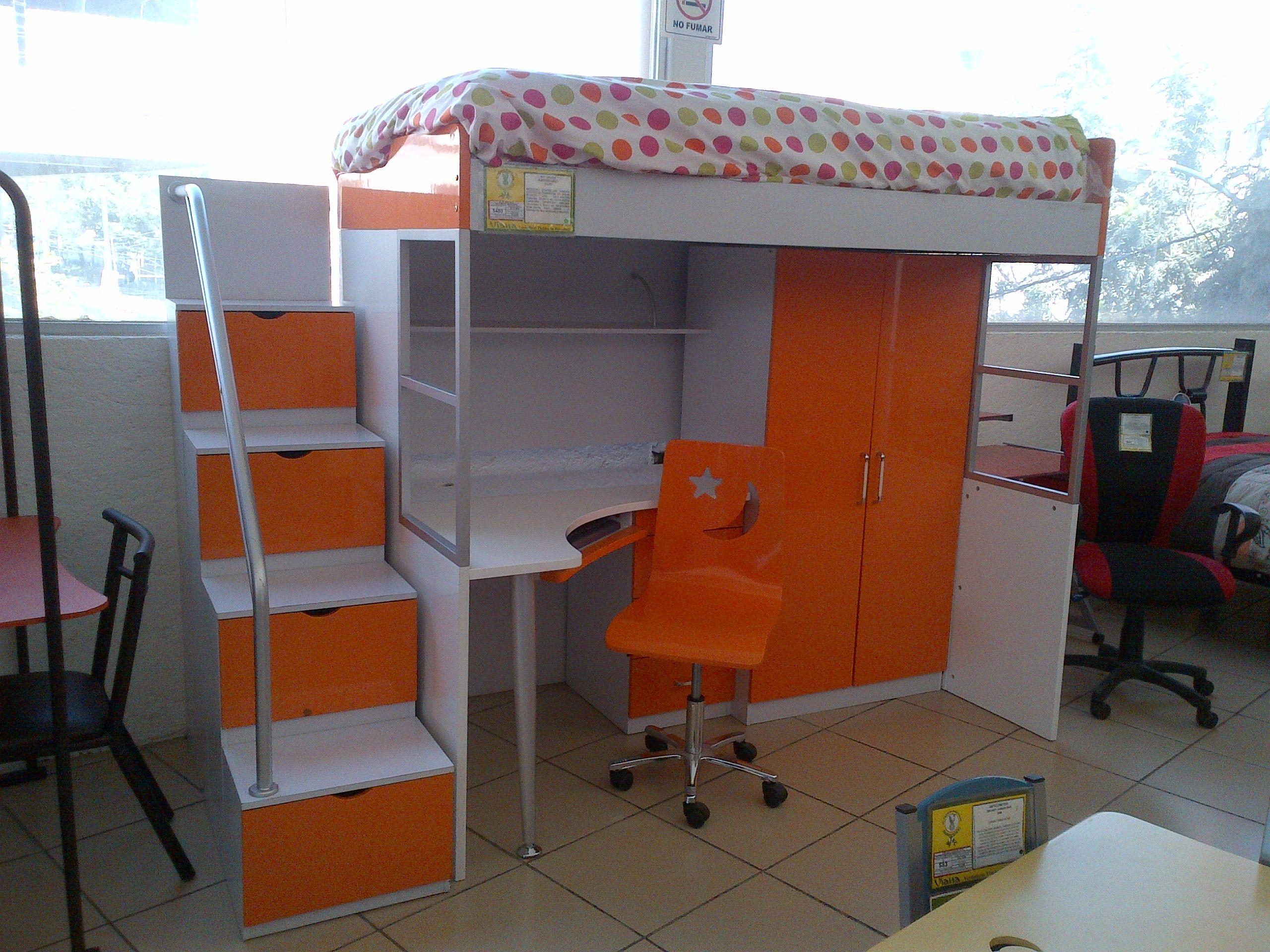 Cama multifuncional que ayuda a ahorrar espacios a la for Almacenes de camas en ibague