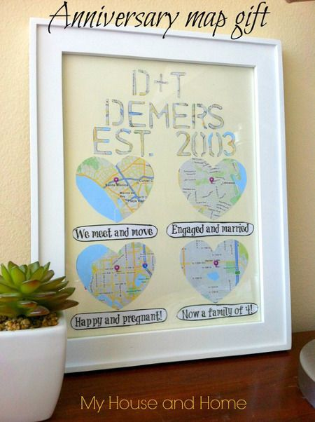 Diy Anniversary Gift Map Wall Art From Thinkcrafts Com