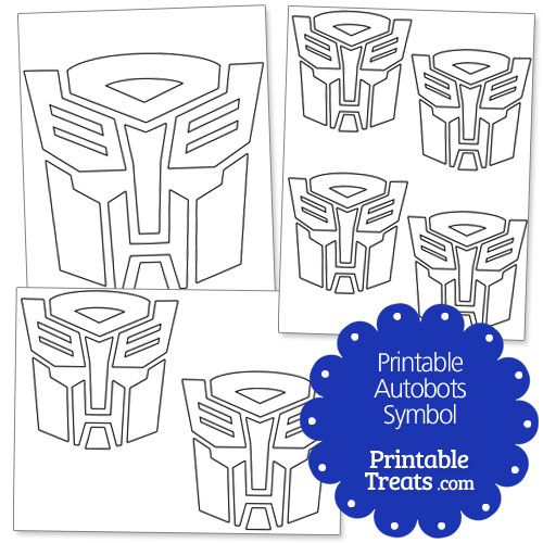 Printable Autobots Symbol From Printabletreats Com Transformers