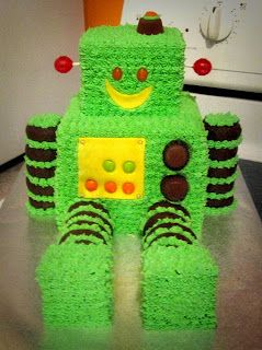 Create Each Day: Robot Cake