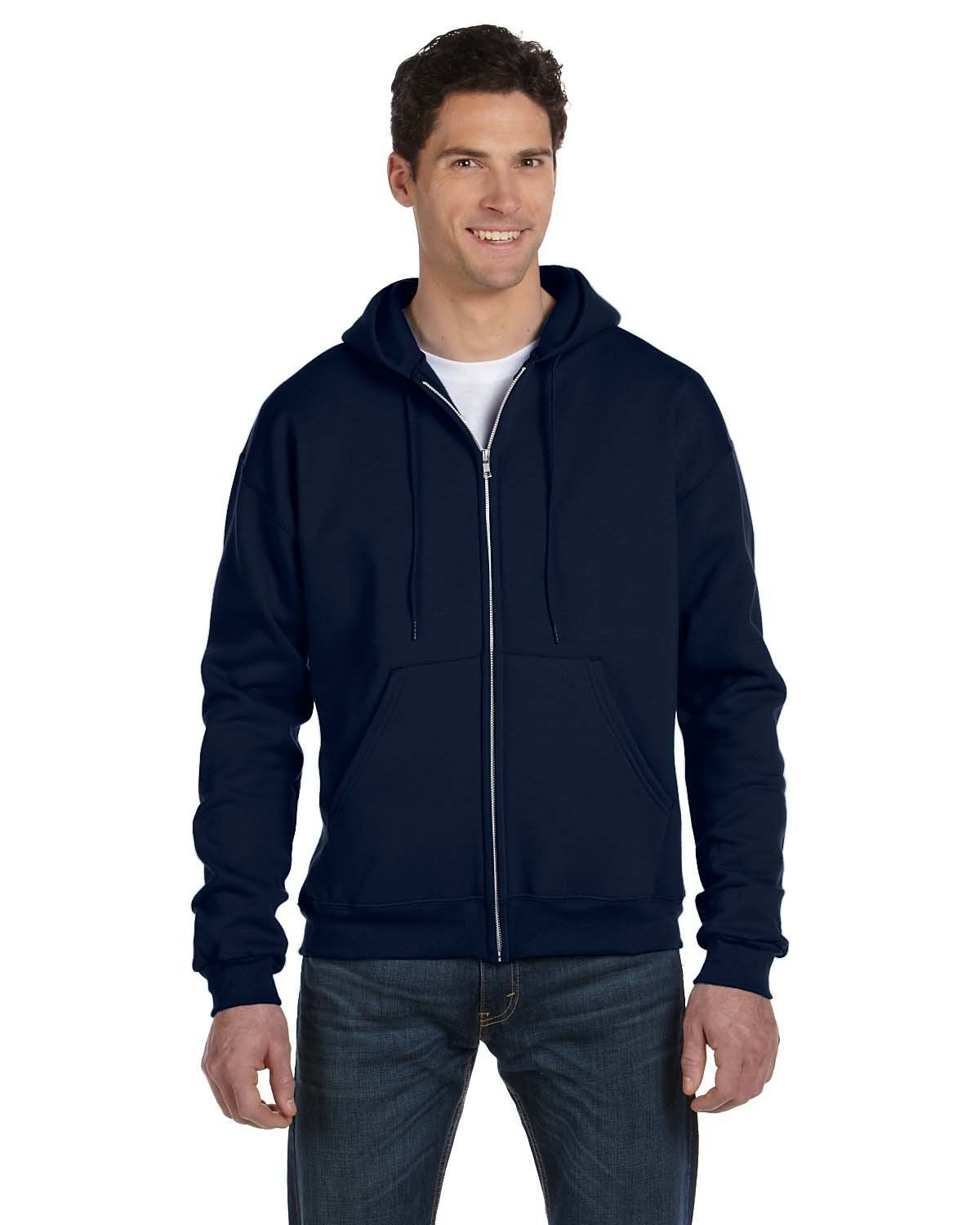 385cc961 Champion Double Dry Eco Full-Zip Hood S800 Navy | Products | Hooded ...