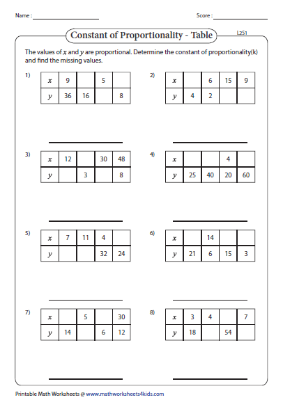 Constant Of Proportionality Tables Answer Key : constant, proportionality, tables, answer, Constant, Proportionality-, Missing, Values, Tables, Relationship, Worksheets,, Proportional, Relationships,, Literature