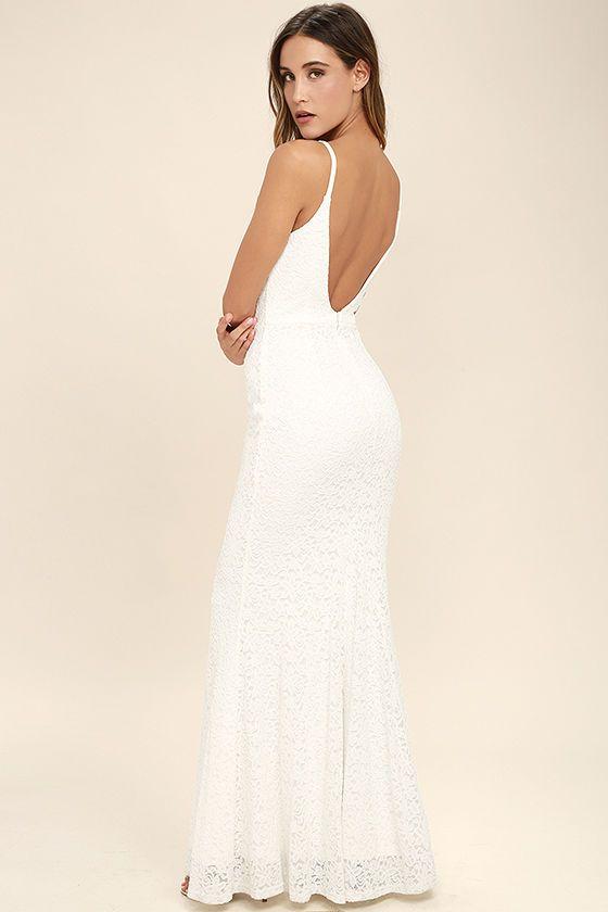 Ephemeral Allure Ivory Lace Maxi Dress | Ivory, Wedding and Bridal ...