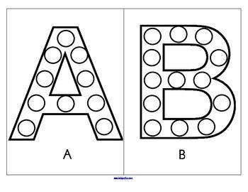 Bingo Dot Marker Alphabet Upper