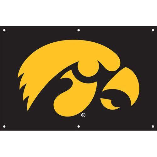 Iowa Hawkeyes NCAA Applique & Embroidered Team Banner (36x24)