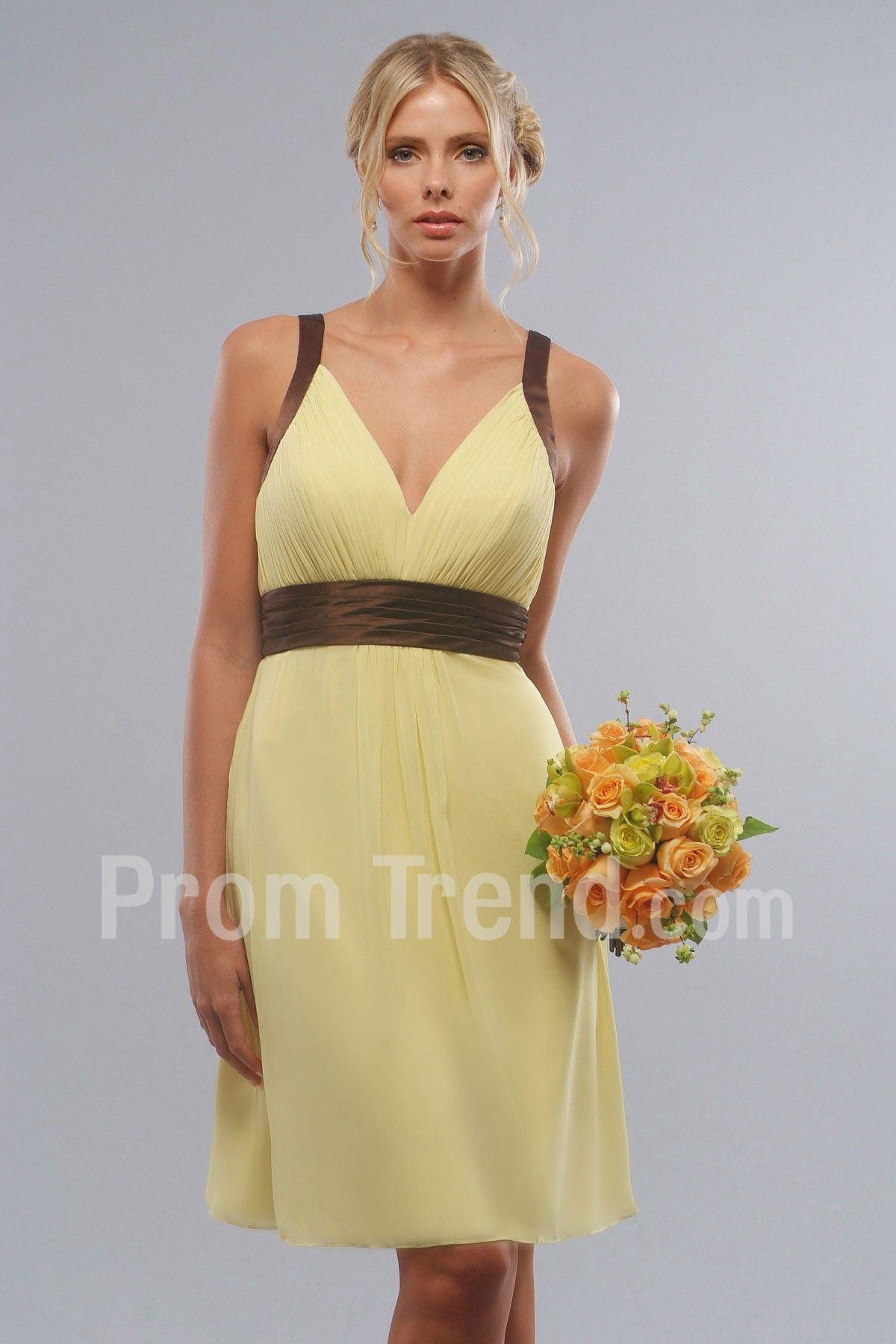 Aline vneckline short chiffoncharmeuse prom dress promtrend
