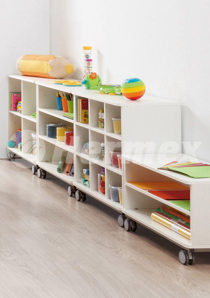 Muebles con ruedas para aulas escolares  Aulas Pre