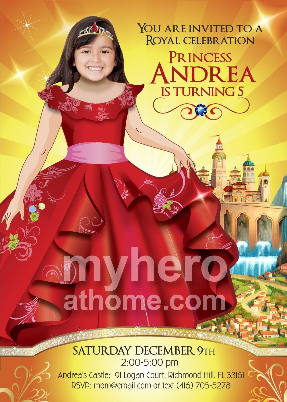 Elena Of Avalor Birthday Invitation Party Ideas Princess ElenaOfAvalorPartyIdeas ElenaOfAvalorBirthday