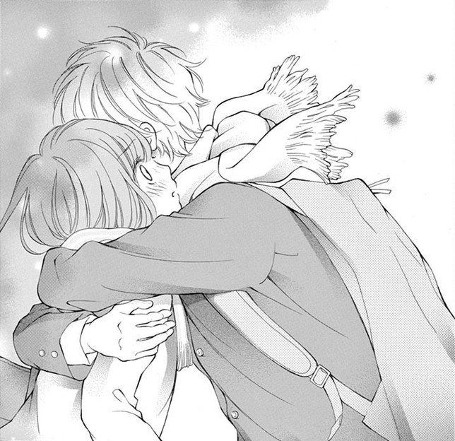 Manga Couple Hug Sad I Miss You Cold Boy And Girl Tumblr