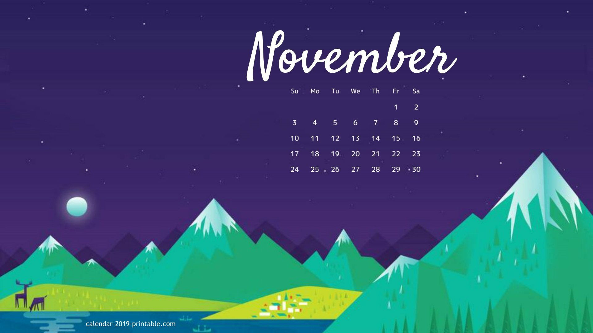 november 2019 calendar desktop wallpaper Calendar