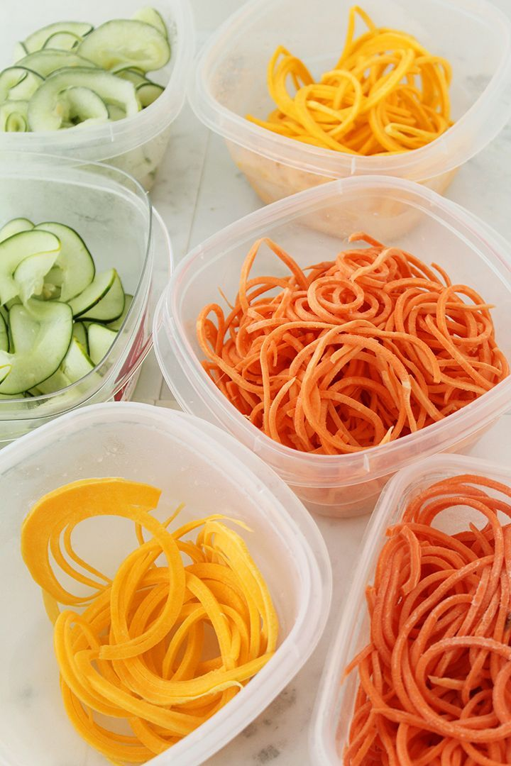 How to store zucchini noodles and spiralized vegetables