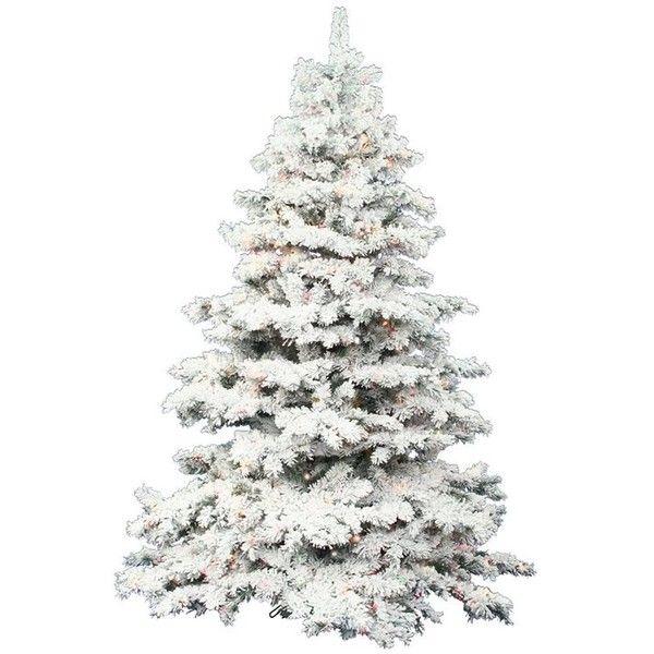 Vickerman 3-ft Pre-lit Alaskan Pine Flocked Artificial Christmas