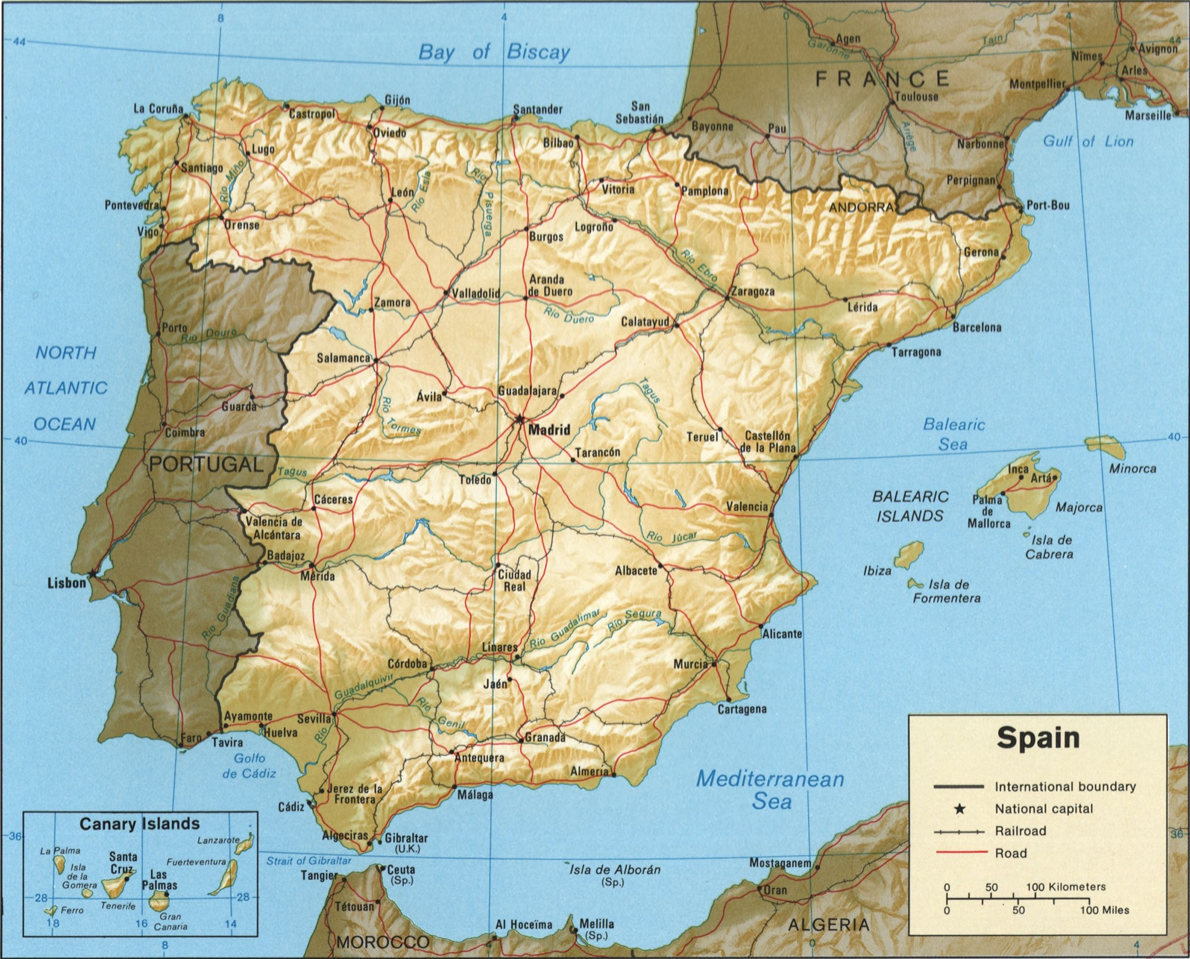 Map Of Spain History Map Of Spain Spain Pinterest - Map of spain