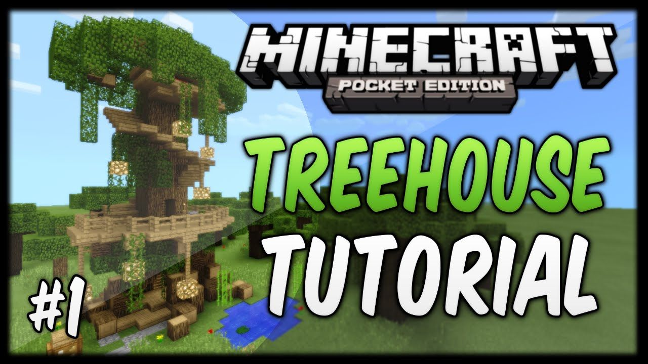 Mcpe house tutorials how to build a tree house minecraft pe.