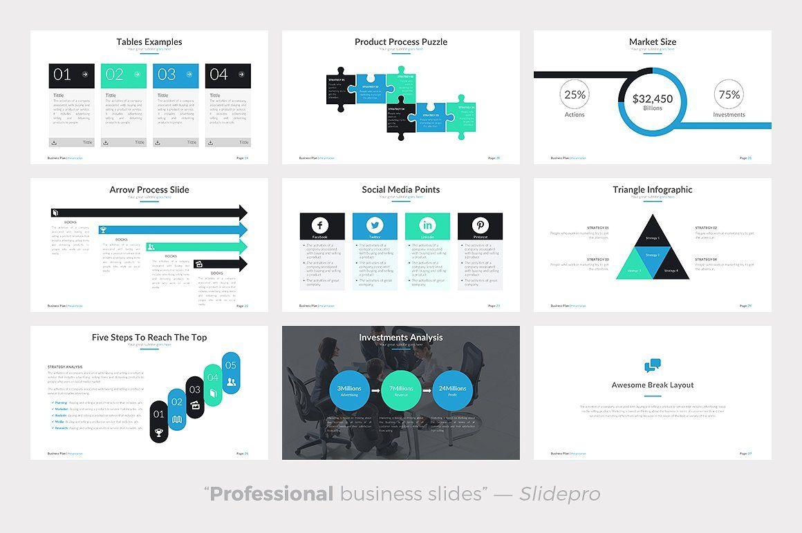 Business Plan Powerpoint Template trendlayoutsincludes