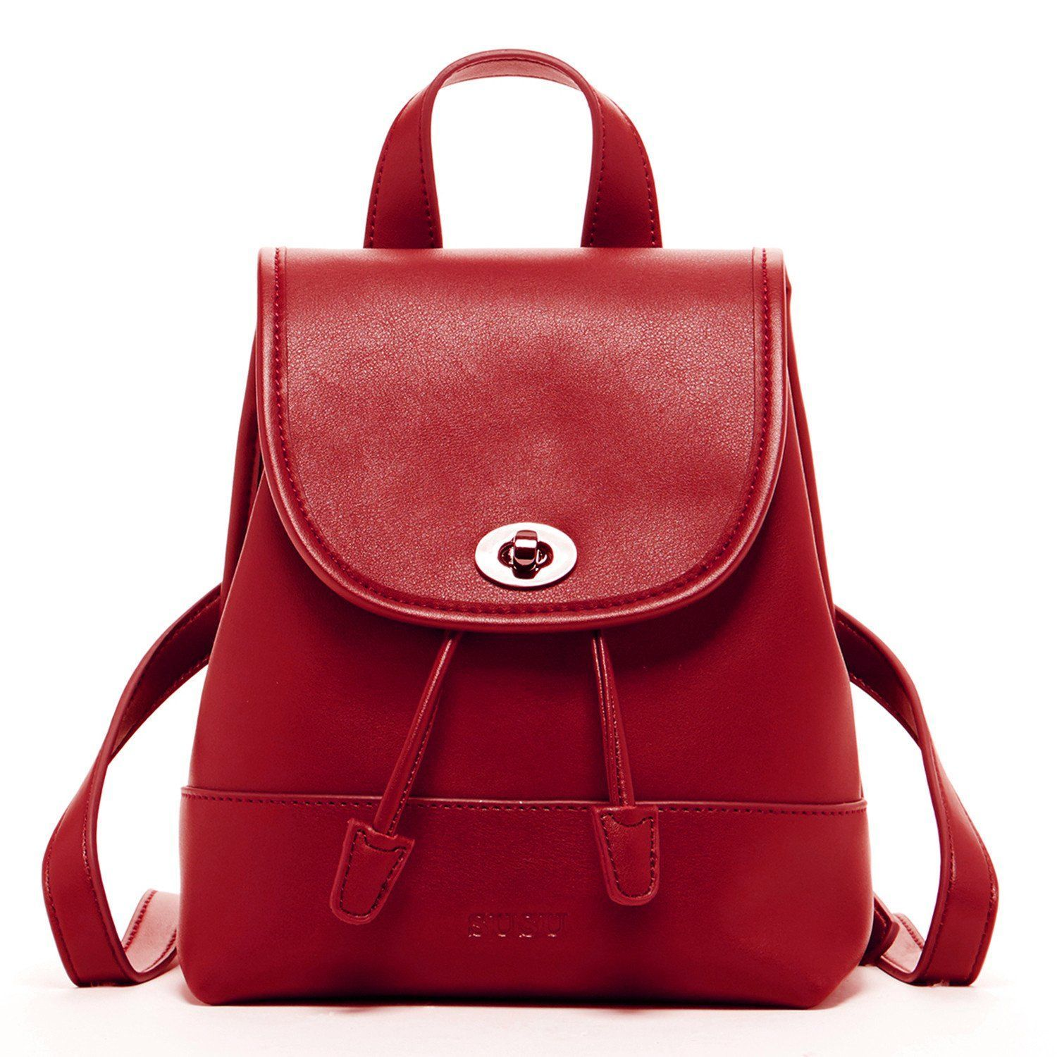 7f226be7fe2 Nicole Leather Backpack Red   StitchFixIdeas   Leather backpack ...