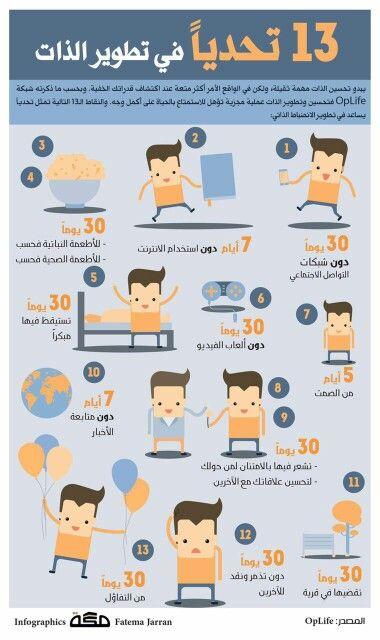 13 تحديا في تطوير الذات Life Skills Positive Notes Intellegence