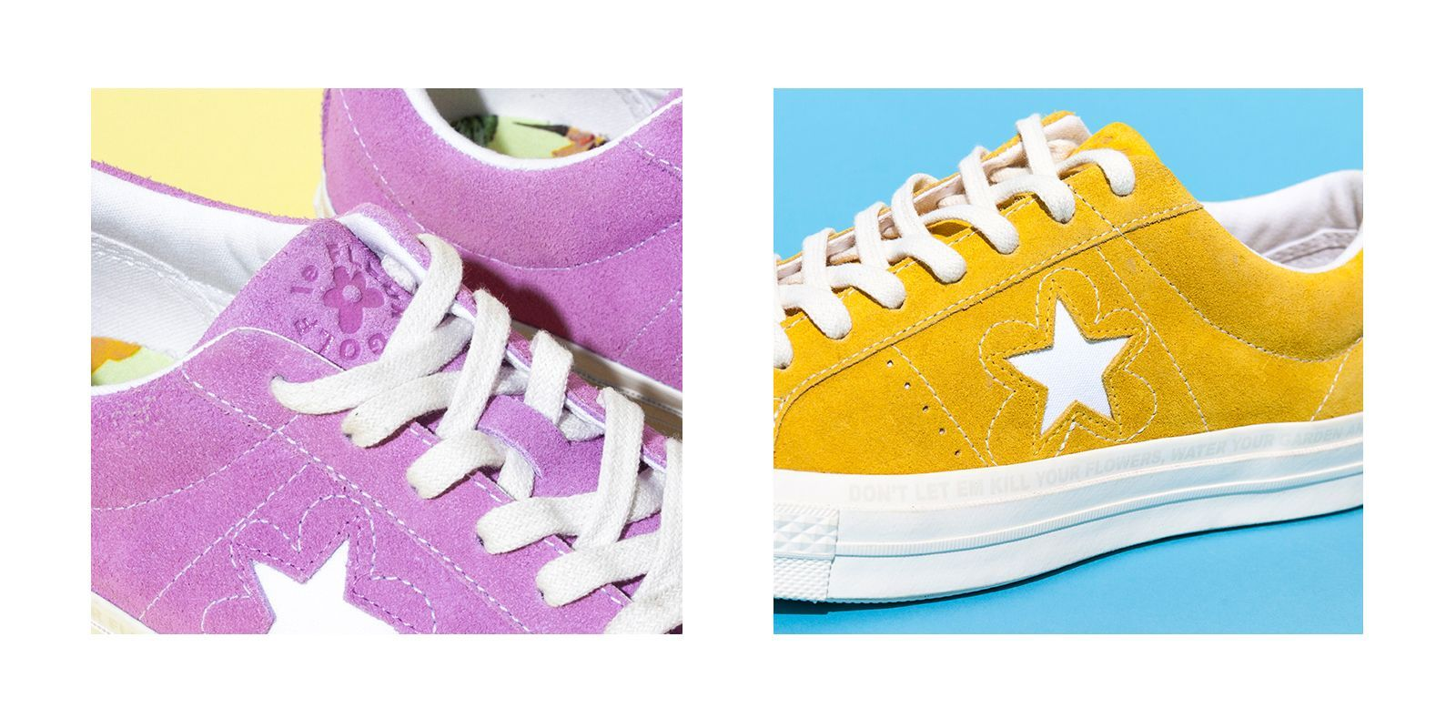 39eb62e3c244 Converse One Star x Golf le Fleur Shoes Logo Closeup ...