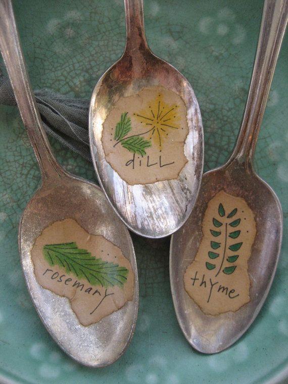 creative herb garden markers by daisy chestnut...