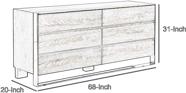 Benjara 6 Drawer Dresser With Front Metal Sled Base And Block Legs Gray Home Kitchen Furnitu 6 Drawer Dresser Dresser Drawers Bedroom Furniture Dresser [ 755 x 1500 Pixel ]