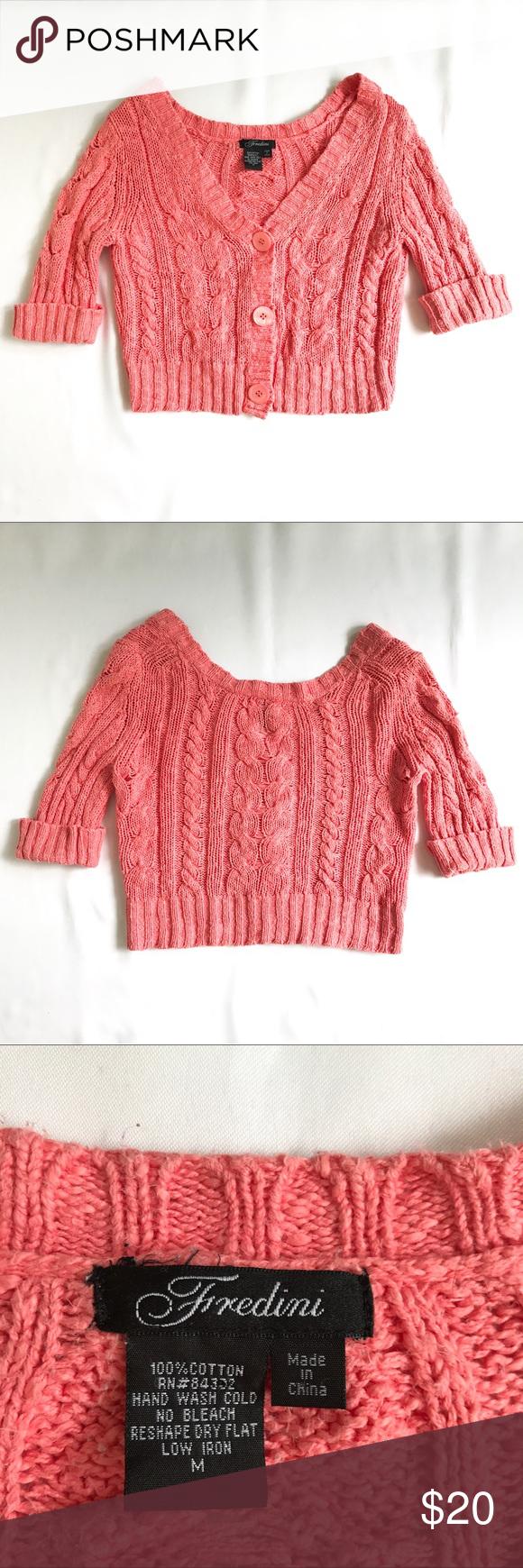 Coral cardigan sweater | Sweater cardigan, Coral cardigan and ...