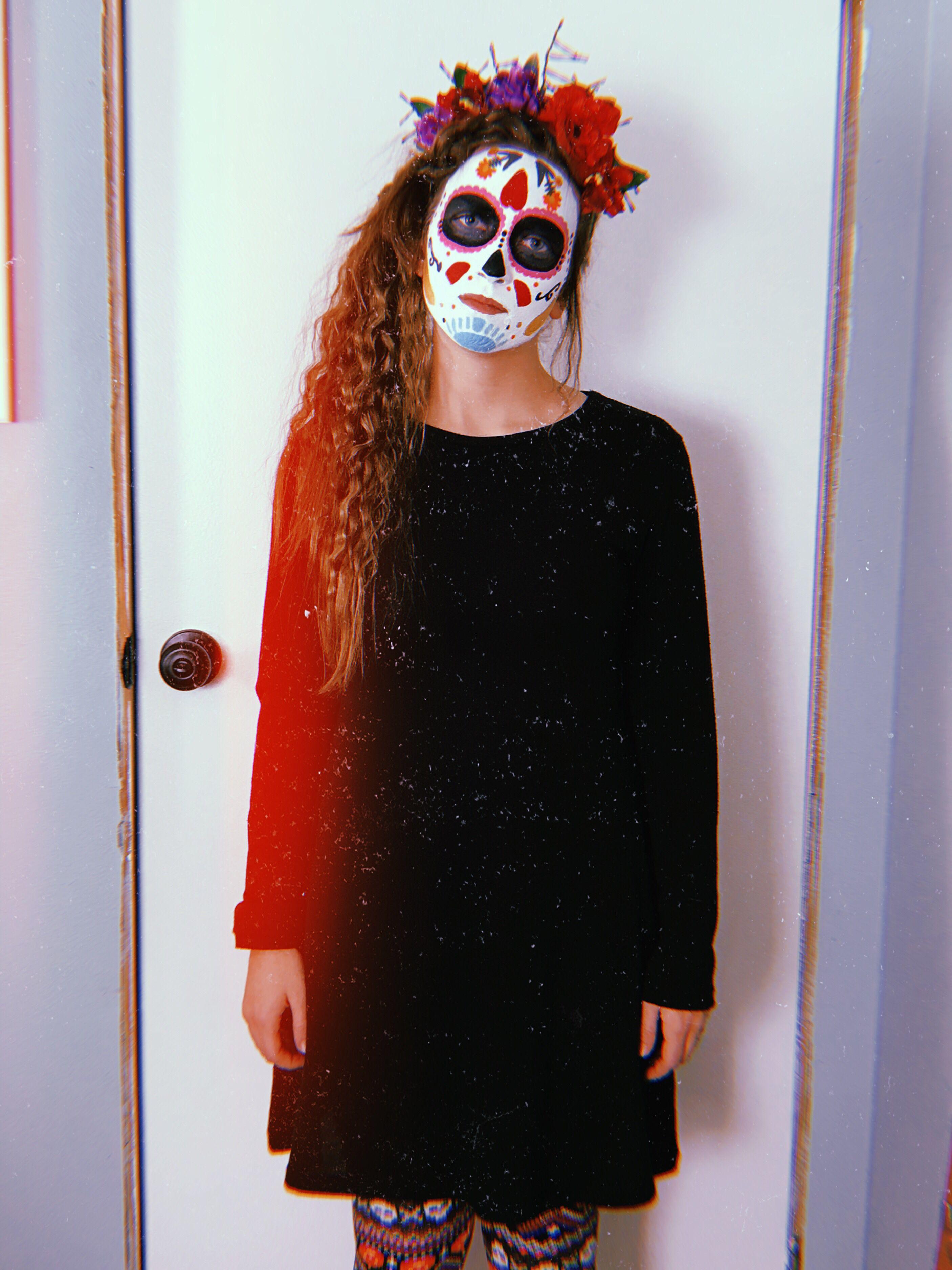 Dia de los muertos Halloween face makeup, Face makeup