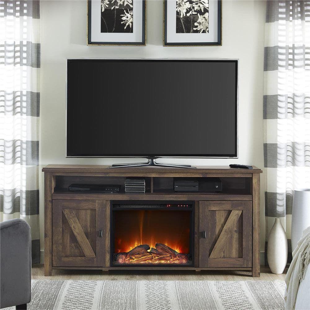 ameriwood home farmington heritage 60 inch media fireplace rh pinterest com 60 inch media fireplace 60 electric fireplace media center