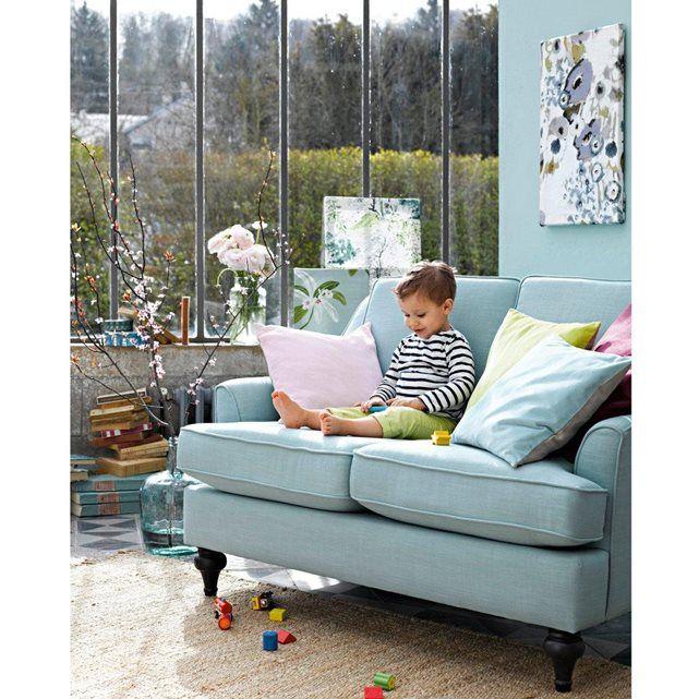canap 2 places belva un canap compact 80 polyester 20 lin confortable bien profond. Black Bedroom Furniture Sets. Home Design Ideas