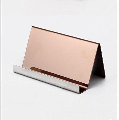 Nipole modern business card holder desk display stainless busy nipole modern business card holder desk display stainless reheart Images