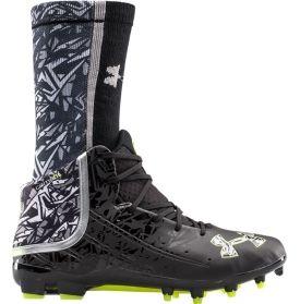 53f7635d5 Under Armour Men s Banshee Mid MC Lacrosse Cleat - Black White ...
