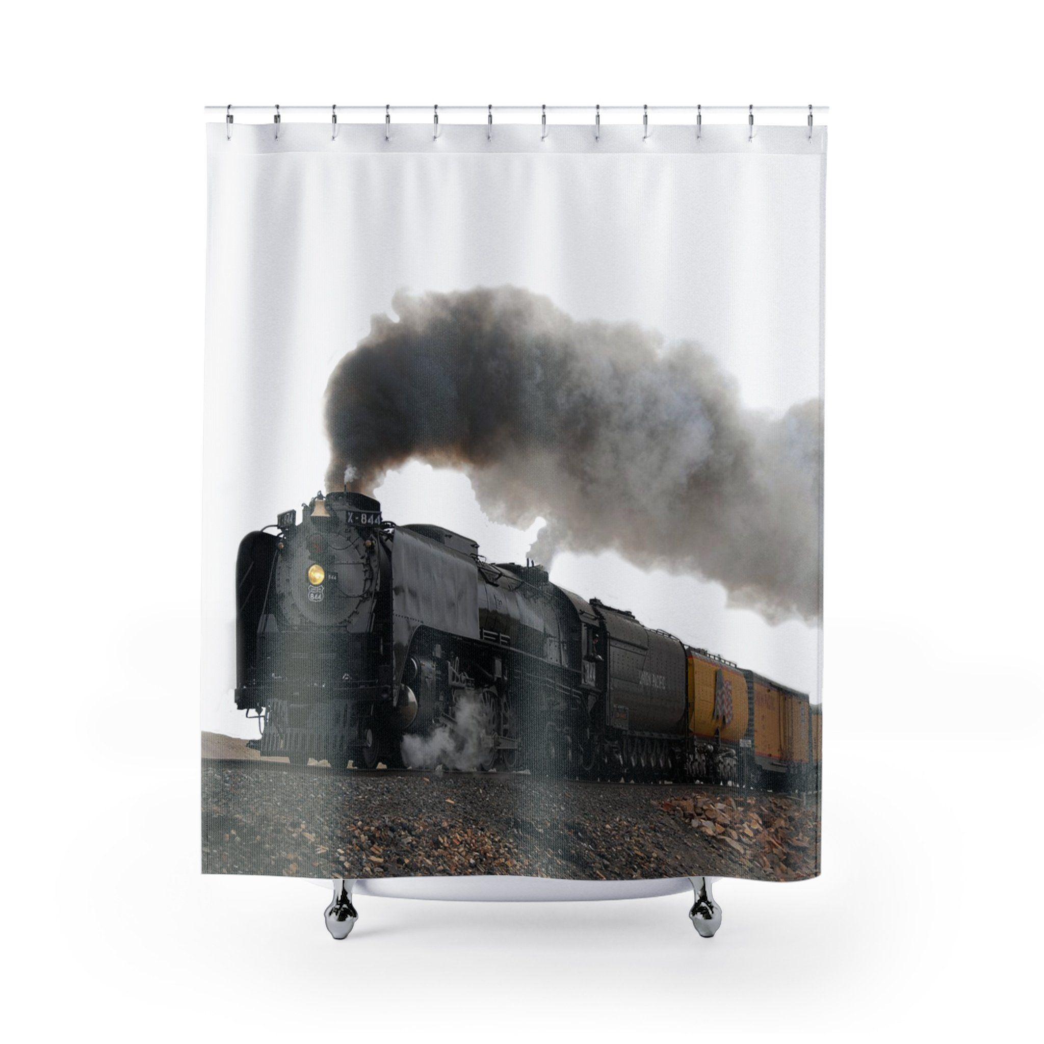 Train Shower Curtain Shower Curtain Curtains Shower